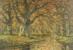 Gregory Hollyer (British, 19th/20th Century), Under the Beech Tree, Autumn, Signed