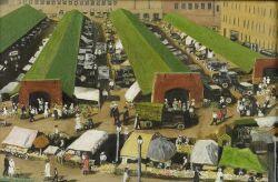 David MacBeth Sutherland (British, 1883-1974), The Marketplace, Signed