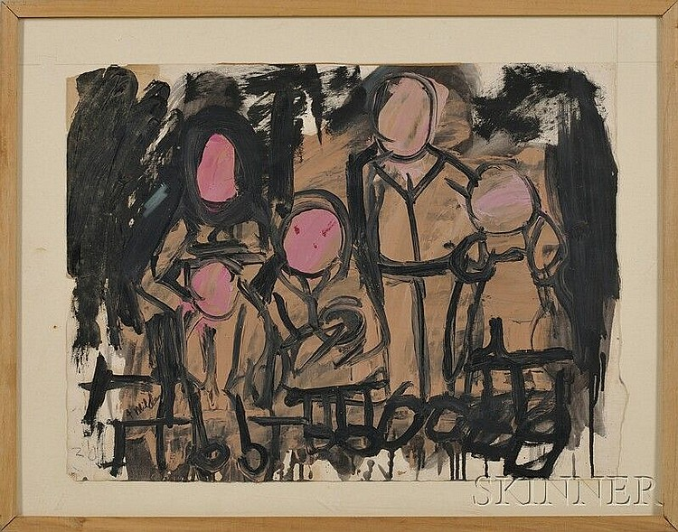 Jay Milder (American, b. 1934) Six Figurative Works. Four signed