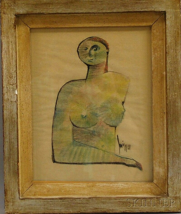 Sergio Sarri (Italian, b. 1938) Nude. Signed and dated