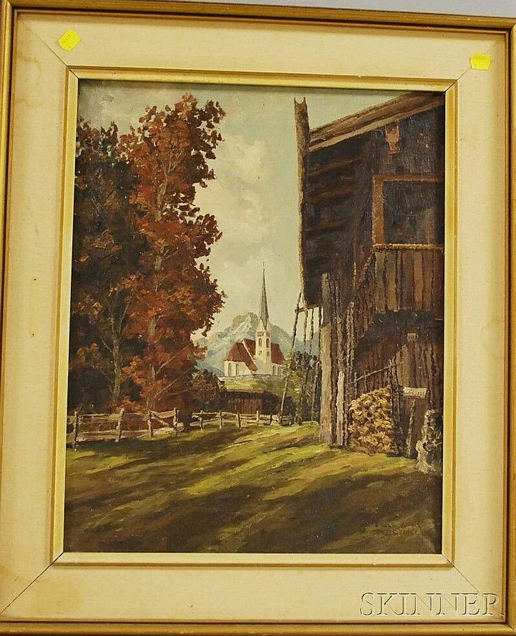 Adolf Böck (German, 1890-1968) Alt Wiesser. Signed and inscribed