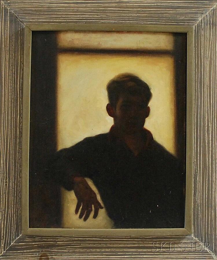 Stephen Kuzma (American, b. 1933) Self Portrait. Signed