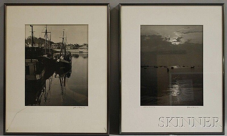 John Worthington Gregory (American, 1903-1992) Four Provincetown Views. Each signed