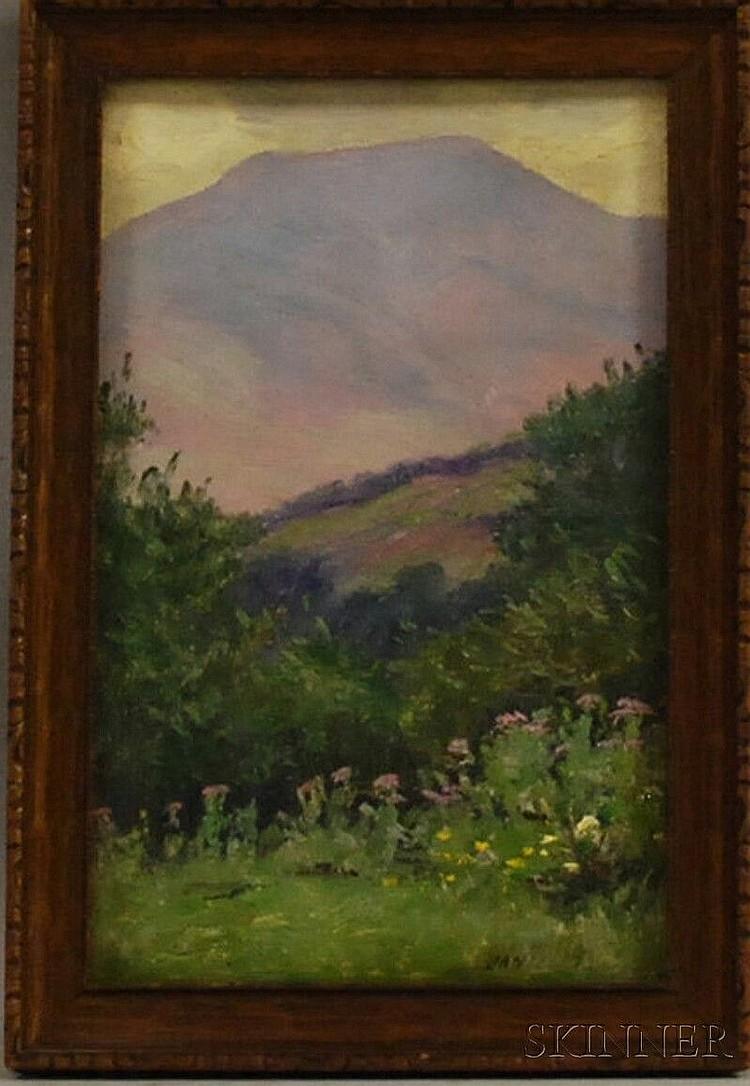 Daniel François Santry (American, 1858-1915) Mount Lafayette, Franconia, New Hampshire. Signed