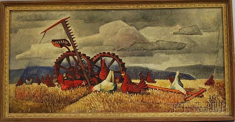 Woldemar Neufeld (Russian/American, 1909-2002) The Gleaners. Signed
