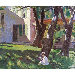 Benjamin West Clinedinst (American, 1859-1931) Under the Shade of a Tree Signed