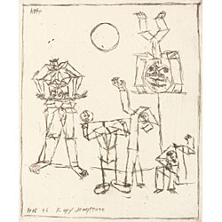 Paul Klee (Swiss, 1879-1940) Kopf Jongleure, 1916. Signed, titled and dated within theplate.