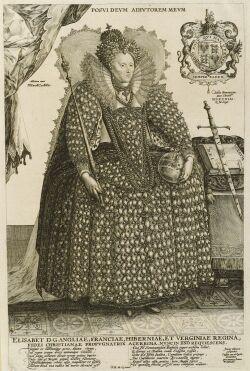 Crispin van de Passe, the Elder (Dutch, c. 1564-1637) Elisabet D.G. Angliae..., third state of three (Hollstein, 712). Identified withi
