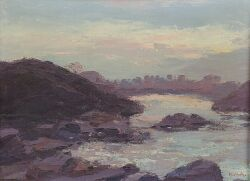 Mary Horton Adriance (American, d. 1941), Lot of Two Maine Views Including: Shore Road, Ogunquit and Sunset, Perkins Cove, Ogunquit, Ea