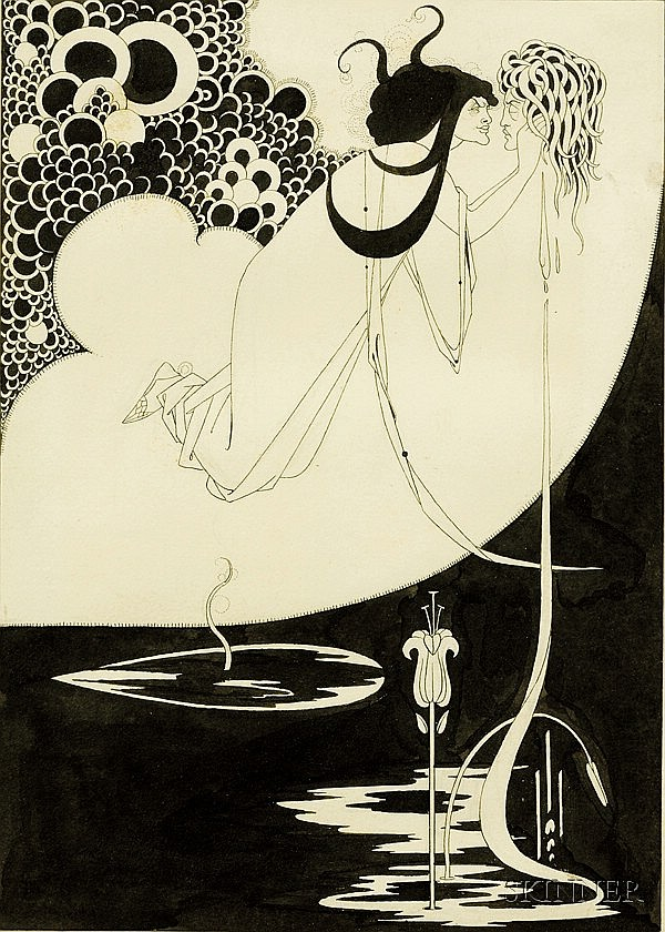 Beardsley, Aubrey (1872-1898) and Wilde, Oscar (1854-1900), The Climax, Important original illustrat...