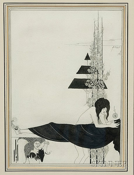 Beardsley, Aubrey (1872-1898) and Wilde, Oscar (1854-1900), A Platonic Lament, Important original il...
