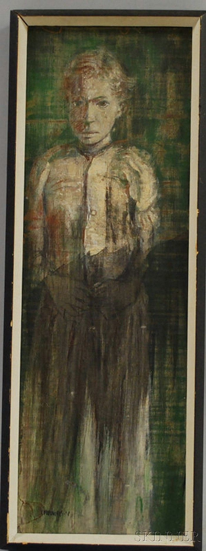 Steven Trefonides (American, b. 1926) Adolescent Girl 1952. Signed and dated