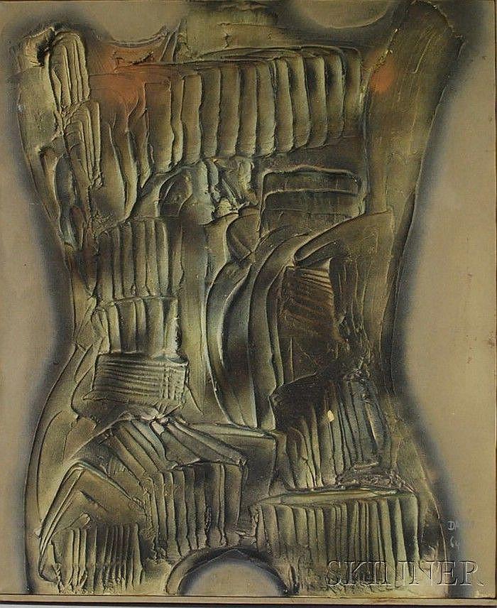 Dario Villalba (Spanish, b. 1939) Torso Mineral #4. Signed and dated