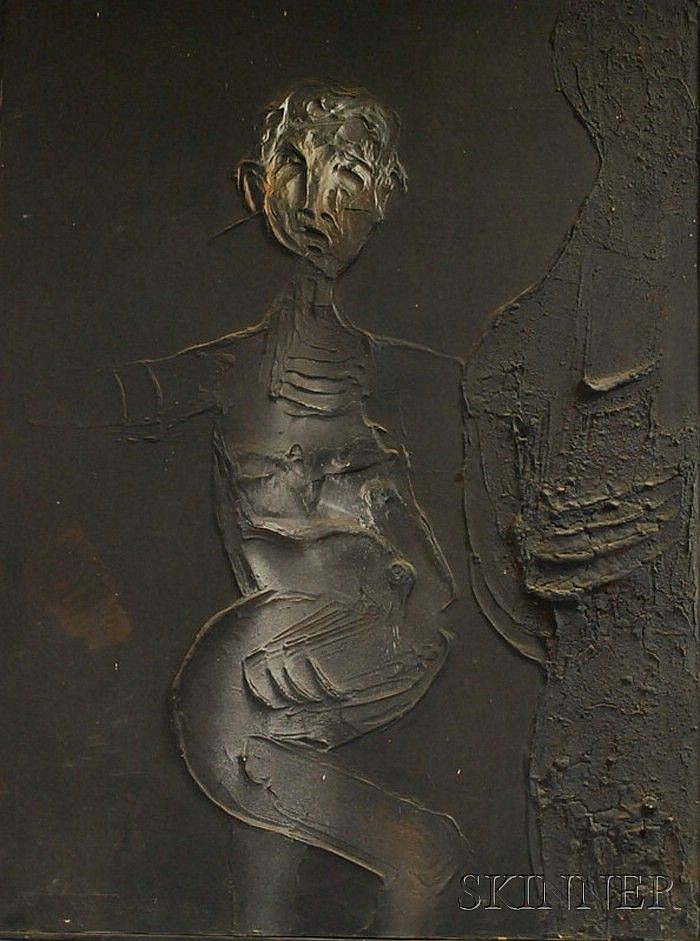 Dario Villalba (Spanish, b. 1939) Figura A. Signed and dated