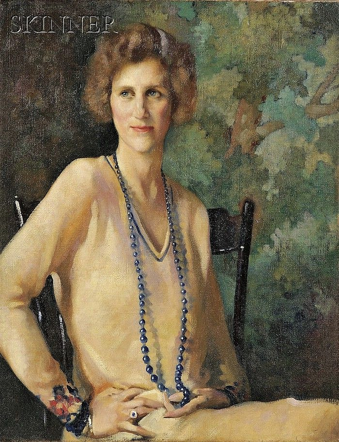 John Lavalle (American, 1896-1971) Portrait of Mrs. George C. White, c. 1928. Signed