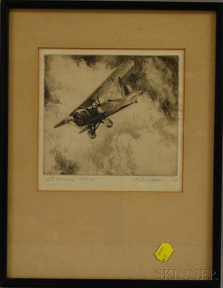Coy Avon (C.A.) Seward (American, 1884-1939) Stearman. Signed and dated