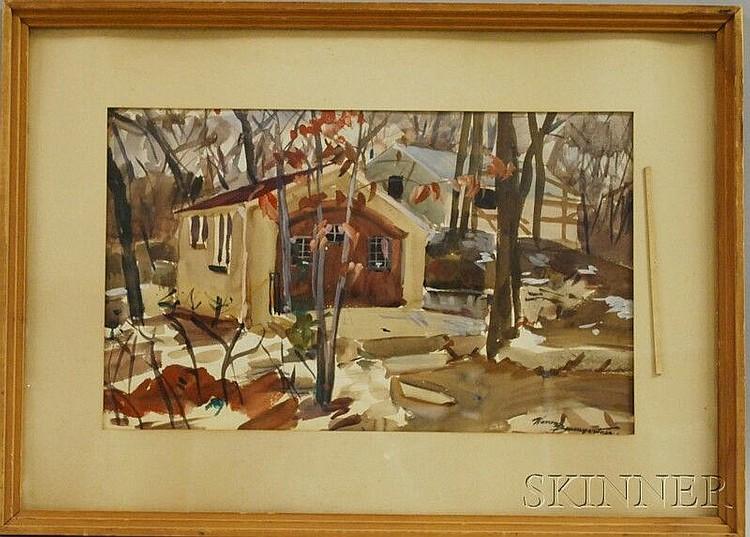 Warren W. Baumgartner (American, 1894-1963) Early Winter. Signed
