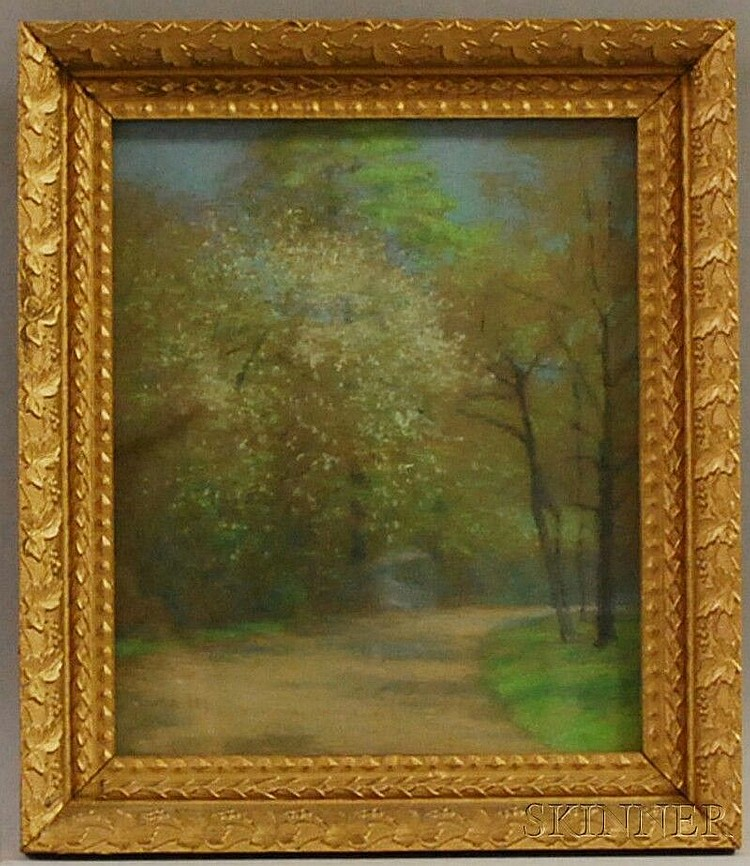 Laura Lee (American, 1867-1954) The Shady Path. Signed