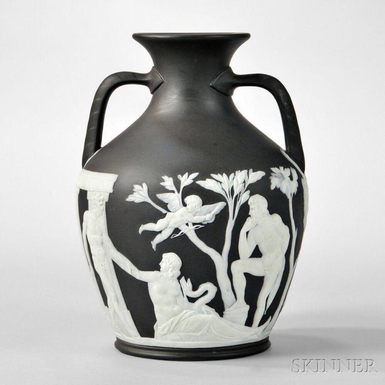 Wedgwood Black Jasper Dip Portland Vase England Late 19th