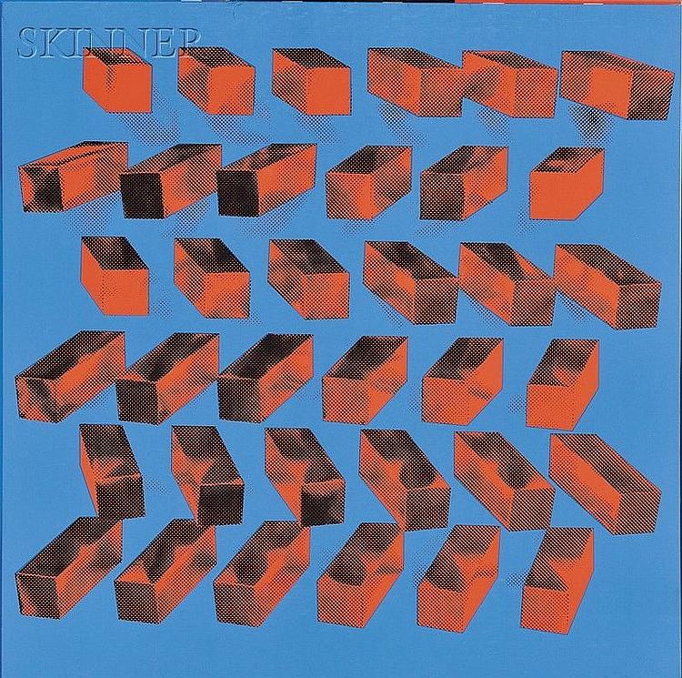 GENTSE KONSTRUKTIEVE KUNST/A Portfolio of Six Works, Jan van den Abbeel (Belgian, b. 1943),P...
