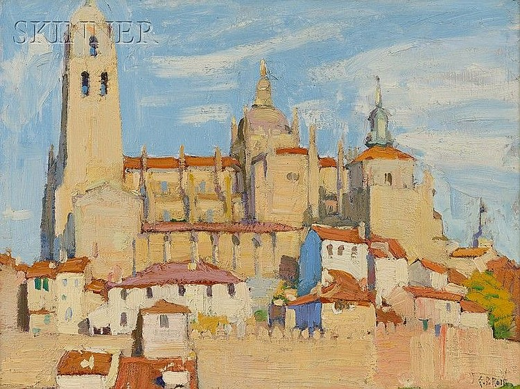Ernest David Roth (American, 1879-1964) Segovia, Spain Signed