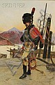François Flameng (French, 1856-1923), Le Grenadier, Signed