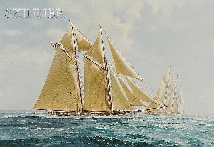 Richard K. Loud (American, b. 1942), The Yacht Race, Signed