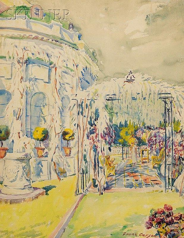 Frank Carson (American, 1881-1968) Into the Garden Signed