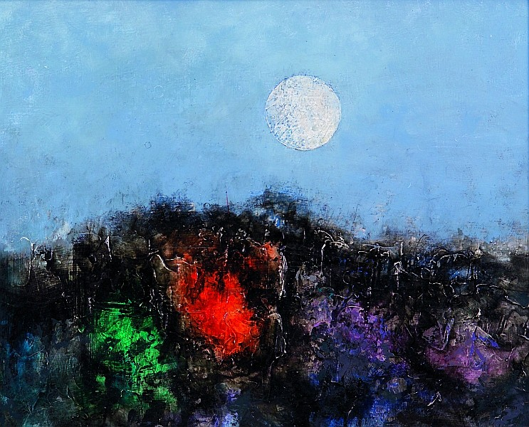 Pierre Jacquemon (Franco/American, b. 1936) Night Sky Signed