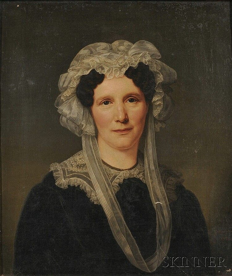 Friedrich Carl Gröger (German, 1766-1838), Woman in a Lace Cap and Collar, Signed and dated