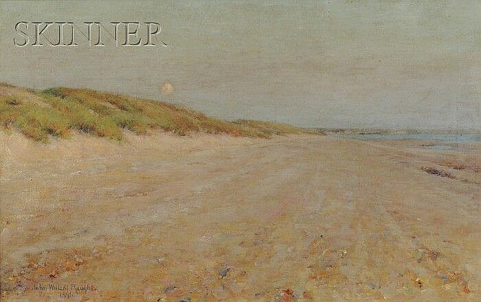 John Willard Raught (American, 1857-1931) Evening - Coast of Picardy Signed and dated