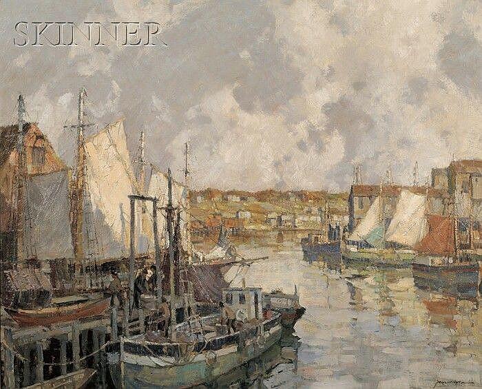Frederick John Mulhaupt (American, 1871-1938) Gloucester Gill Netters Signed