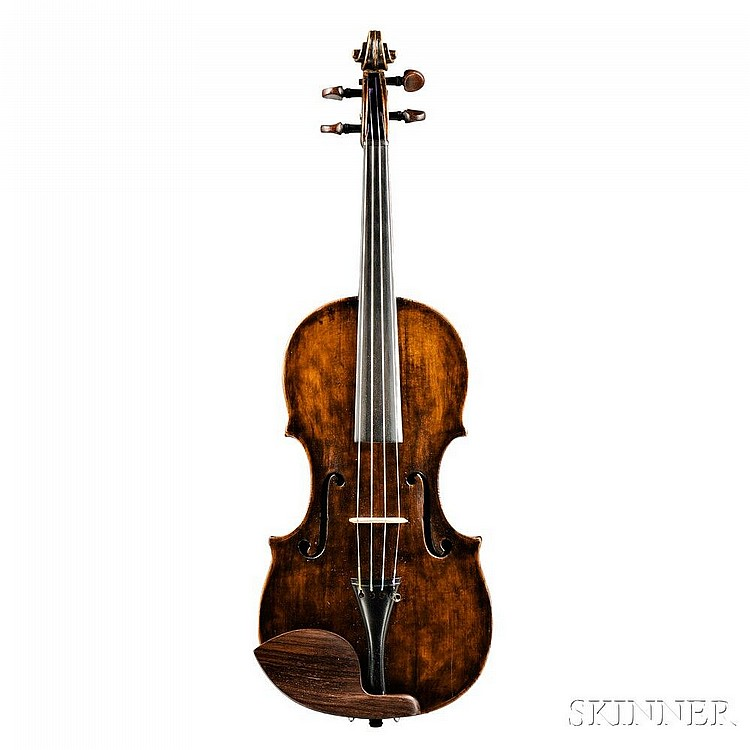 Saxon Violin, c. 1820, labeled ...GIOVANNI DOLLENZ..., length of back 362 mm.