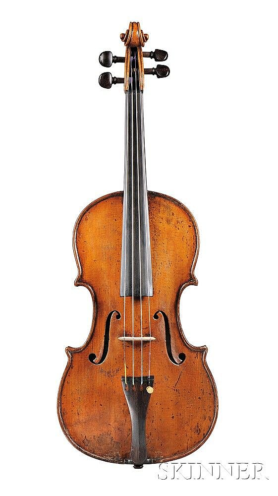 Violin, Attributed to the Gagliano Family, c. 1840, labeled RAFFAELE ED ANTONIO GAGLIANO, QUONDAM GIOVANNI NAPOLI 1831, length of back