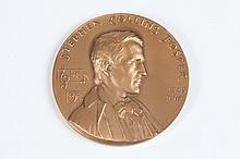 WALKER HANCOCK (American, 1901-1998). STEPHEN COLLINS FOSTER, Bronze relief medallion. The Hall of Fame for Great Americans at New York