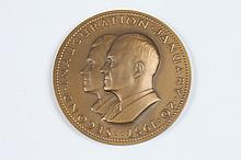 WALKER HANCOCK (American, 1901-1998). DWIGHT D. EISENHOWER INAUGURAL MEDALLION, Bronze relief medallion. Issued by Medallic Arts Co.