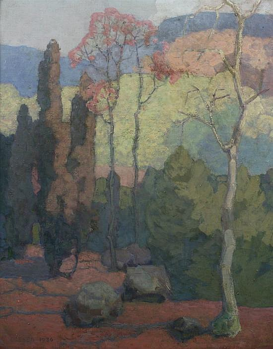 OLAF OLESEN (American, b. 1873). SPRING, signed, titled, and located
