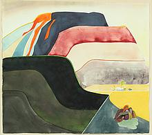FRANZ ALTSCHULER (American, (1923 - 2009)). SOUTHWEST # 1, identified and titled verso. Watercolor.