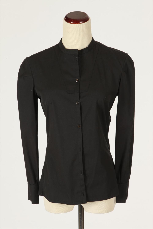 Yves saint laurent black cotton button up shirt size small for Cotton button up shirt