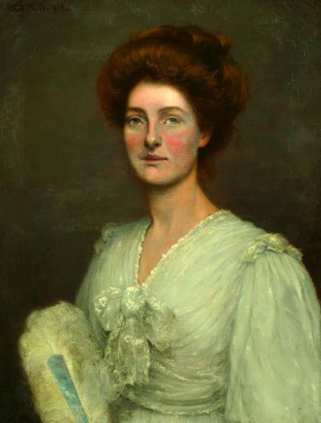ALFRED WARD (British, 1880-1929). PORTRAIT OF MRS