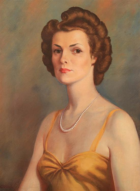 CLARENCE FRANCIS BUSCH (American, b. 1887). PORTRAIT OF KATHLEEN ROBEY, signed lower left. Oil on canvas.