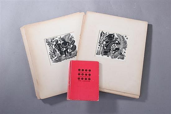 ILONKA KARASZ (American, 1896-1981). TWELVE ASTROLOGICAL SIGNS, twelve scratch board illustrations for