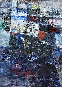 OSCAR GARCIA REINO (Uruguayan, 1910-1993). ABSTRACT COMPOSITION, signed on stretcher. Oil on canvas.
