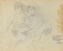 RAPHAEL SOYER (Russian/American, 1899-1987). THE COUPLE, signed lower left and inscribed and dated lower right. Pencil.