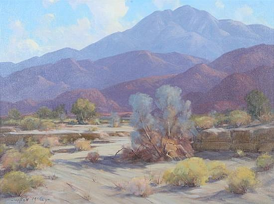 WILTON CHARLES MCCOY (American, 1902- 1986). DESERT LANDSCAPE, signed lower left. Oil on canvas.