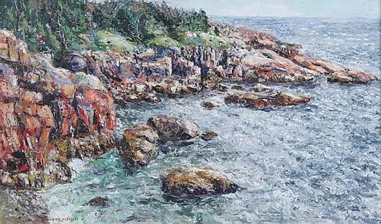 IVAN ALBRIGHT (American, 1897-1983). COAST OF MAINE, signed lower left. Oil on canvas.
