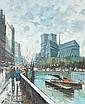 GIUSEPPE MAGGI (Italian, b. 1945). PARIS SCENE, signed lower left. Oil on canvas.