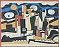 AFTER FERNAND LÉGER (Connecticut/California/France, 1881-1955). LA VACHE ET LA CHAISE, AN ABSTRACT COMPOSITION WITH A FIGURE AND COW, s