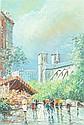 S. AGUILAR NAVARRO (Spanish, 1917-1983). QUAI DE LA TOURNELLE, PARIS, signed lower left. Oil on canvas.