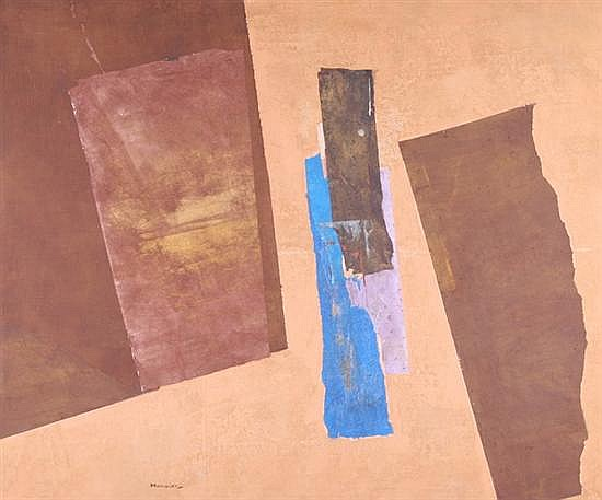 PAUL HORIUCHI (Japanese, 1906-1999). COLORS OF DRAMA, signed lower left, also titled and dated 1970 on reverse. Oil and mixed media col